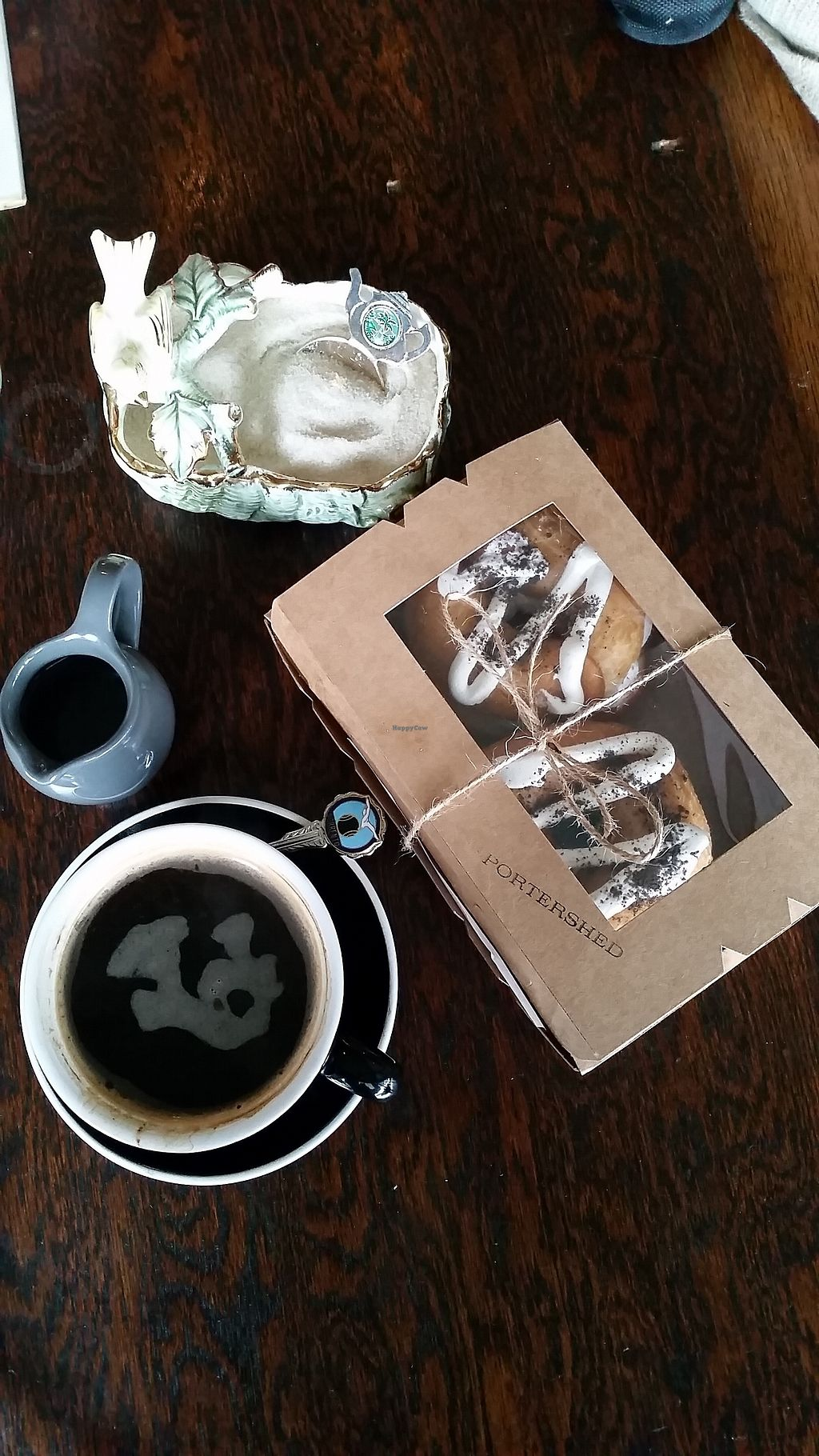 "Photo of Portershed  by <a href=""/members/profile/AndyTheVWDude"">AndyTheVWDude</a> <br/>Fantastic Cookies & Cream Doughnuts boxed for take-out. Seriously good! <br/> September 5, 2017  - <a href='/contact/abuse/image/96516/300988'>Report</a>"