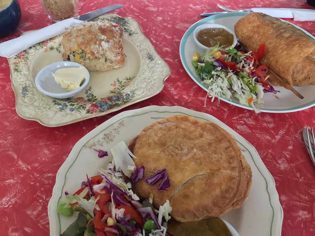 "Photo of Portershed  by <a href=""/members/profile/LenaHaapala"">LenaHaapala</a> <br/>Savory scone, mushroom pie, chimi  <br/> April 11, 2018  - <a href='/contact/abuse/image/96516/383736'>Report</a>"