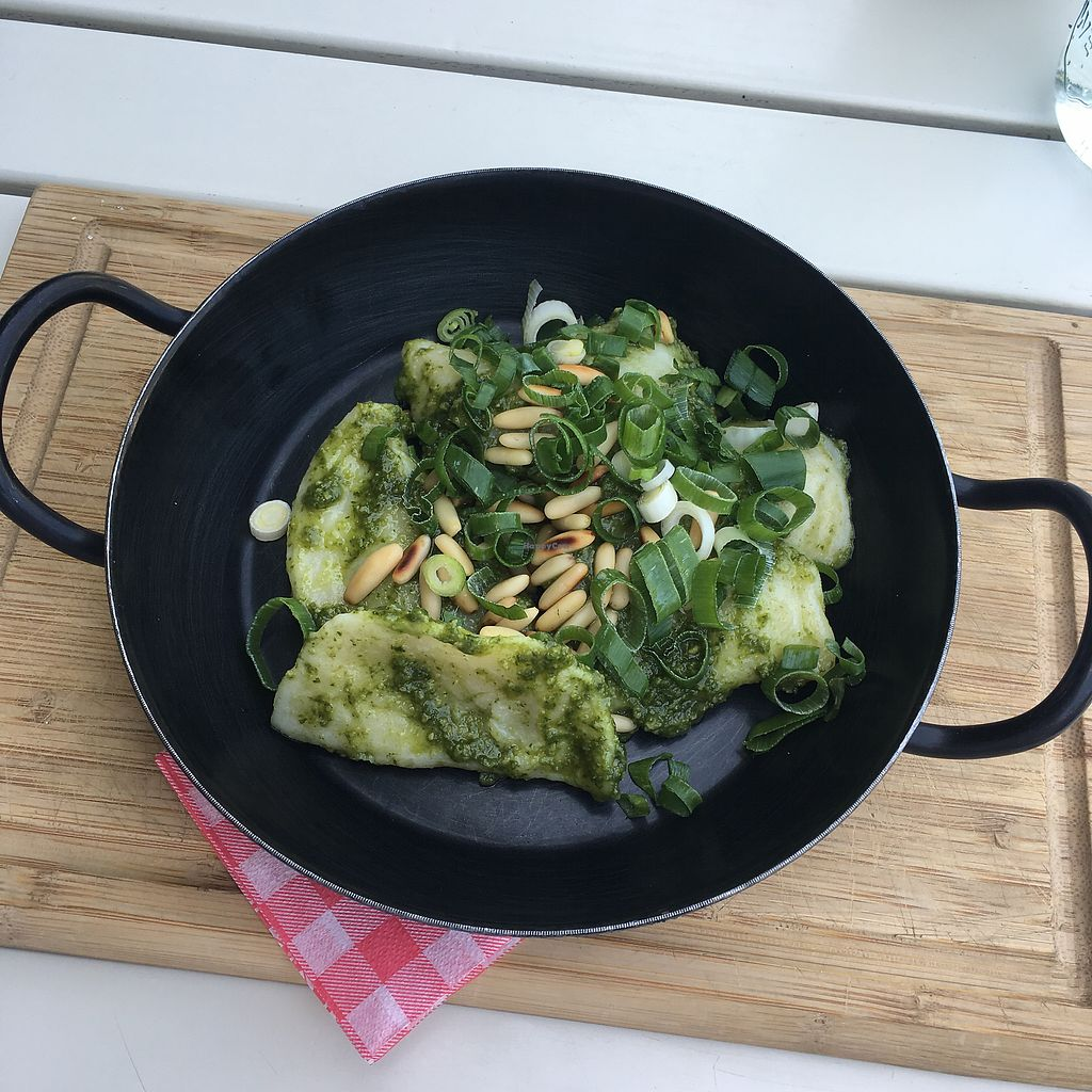 """Photo of Landtmann's Jausen Station  by <a href=""""/members/profile/LilyHarper"""">LilyHarper</a> <br/>Pesto pasta - delicious €9.50 <br/> September 8, 2017  - <a href='/contact/abuse/image/96521/301996'>Report</a>"""