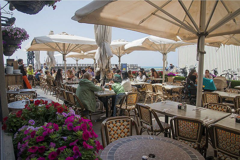 """Photo of Nimrod Cafe - Tel Aviv Port  by <a href=""""/members/profile/Brok%20O.%20Lee"""">Brok O. Lee</a> <br/>outside <br/> July 19, 2017  - <a href='/contact/abuse/image/96547/282036'>Report</a>"""