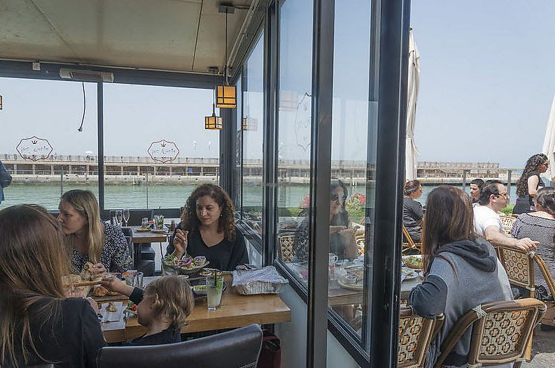 """Photo of Nimrod Cafe - Tel Aviv Port  by <a href=""""/members/profile/Brok%20O.%20Lee"""">Brok O. Lee</a> <br/>looking out <br/> July 19, 2017  - <a href='/contact/abuse/image/96547/282037'>Report</a>"""