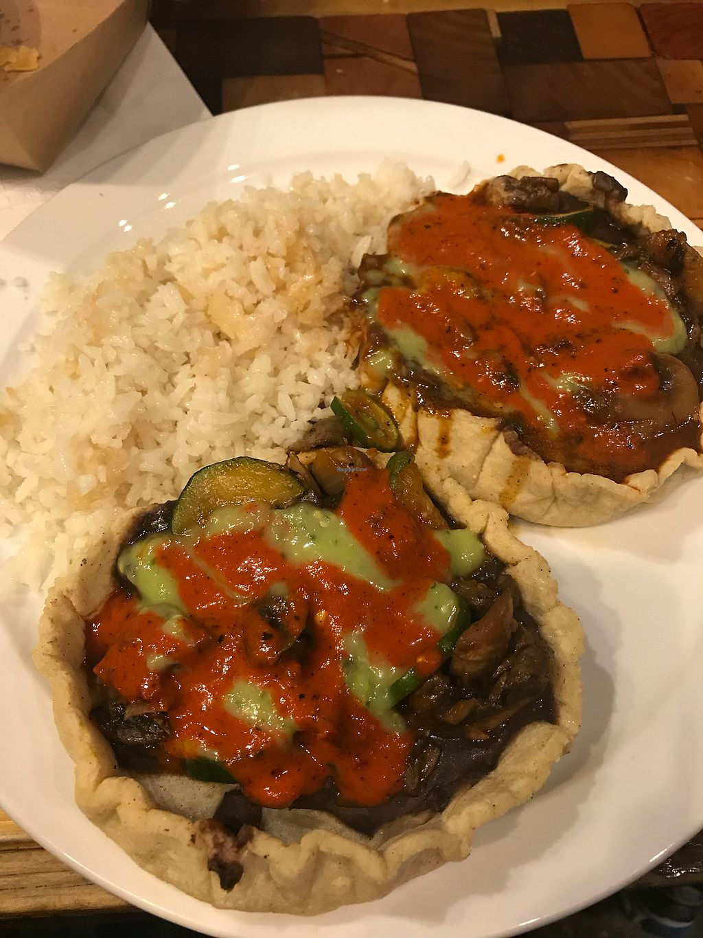 "Photo of Mazunte Taqueria  by <a href=""/members/profile/cspinelli"">cspinelli</a> <br/>Vegan memelitas  <br/> February 26, 2018  - <a href='/contact/abuse/image/96585/364191'>Report</a>"