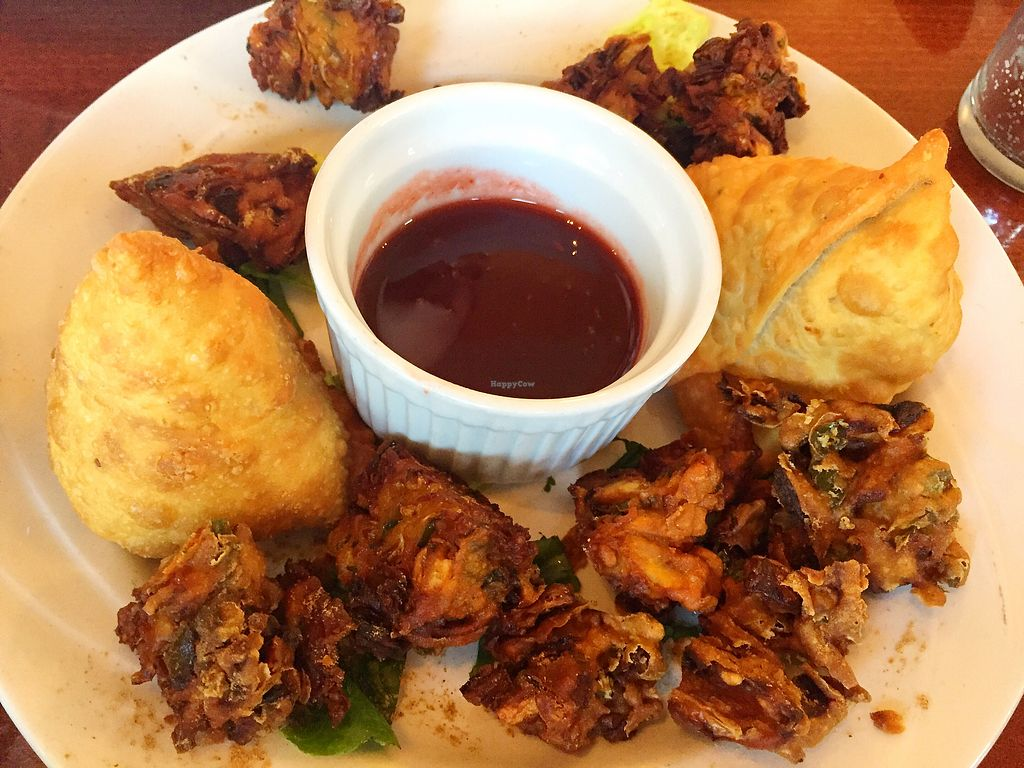 """Photo of Himalayan Yak  by <a href=""""/members/profile/veggiegal22"""">veggiegal22</a> <br/>Veggie pakora and samosas  <br/> October 29, 2017  - <a href='/contact/abuse/image/96629/319961'>Report</a>"""