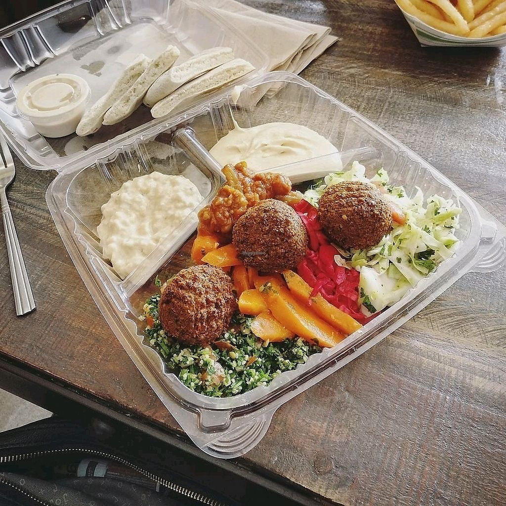 """Photo of Micheline's Pita House  by <a href=""""/members/profile/KellyBone"""">KellyBone</a> <br/>veggie combo <br/> November 27, 2017  - <a href='/contact/abuse/image/96631/329884'>Report</a>"""