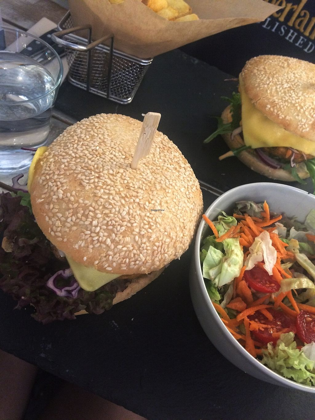 """Photo of Veggiezz - Opernring  by <a href=""""/members/profile/siderealfire"""">siderealfire</a> <br/>Farmers burger with side salad <br/> April 19, 2018  - <a href='/contact/abuse/image/96634/388011'>Report</a>"""