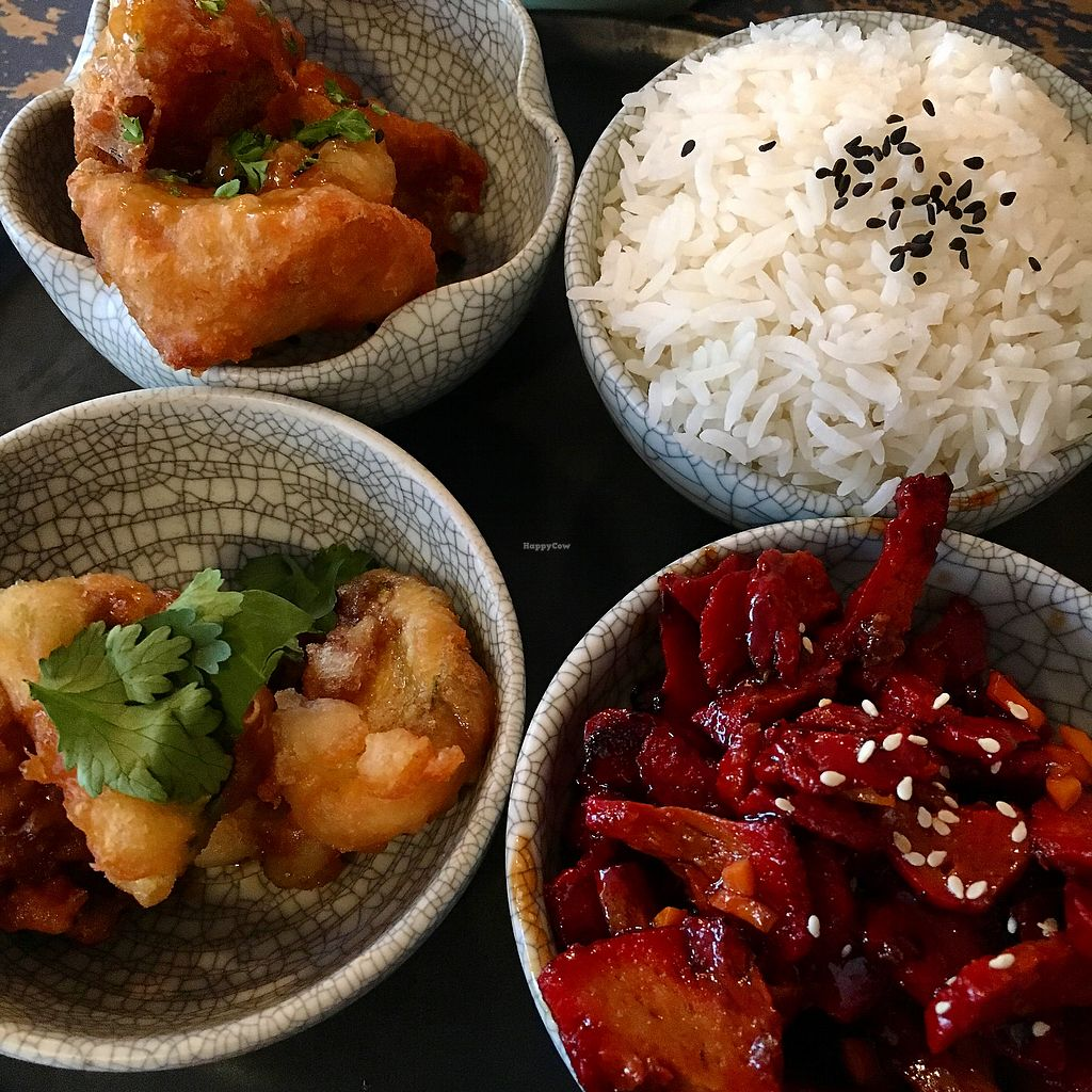 """Photo of Monsoon Thai Fusion  by <a href=""""/members/profile/SeitanSeitanSeitan"""">SeitanSeitanSeitan</a> <br/>Vegan bbq bento <br/> December 1, 2017  - <a href='/contact/abuse/image/96671/331006'>Report</a>"""