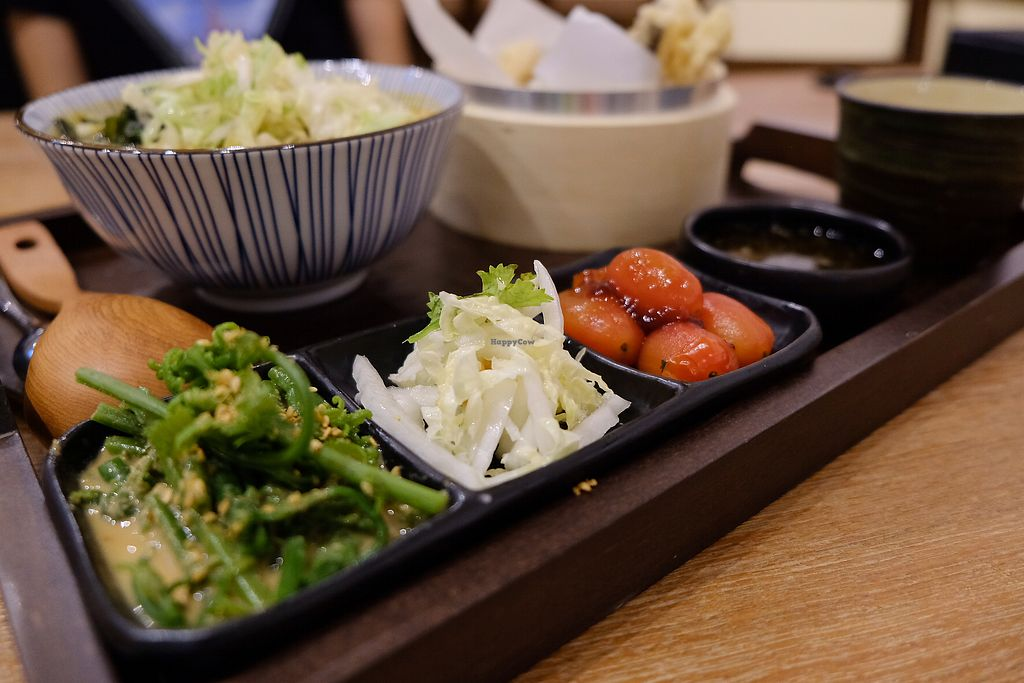 """Photo of Hoshina Teishoku - Zhongshan District  by <a href=""""/members/profile/HaileyPoLa"""">HaileyPoLa</a> <br/>three side dishes and tempura are offered for any udon combo  <br/> July 22, 2017  - <a href='/contact/abuse/image/96690/283289'>Report</a>"""