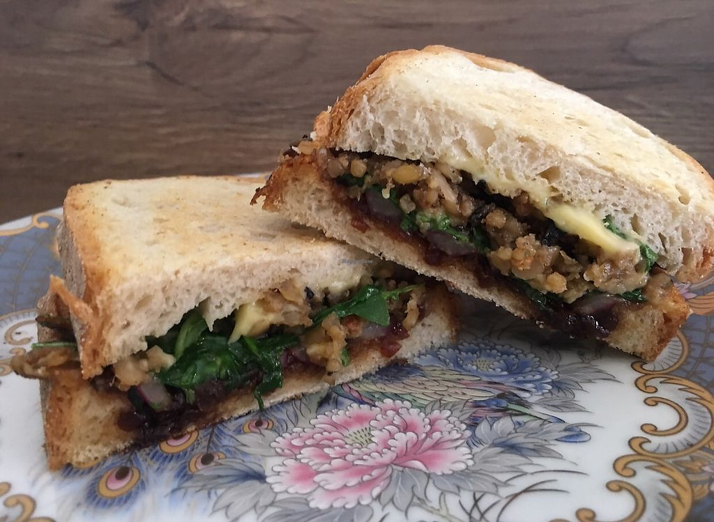 """Photo of In Bloom  by <a href=""""/members/profile/garrywaters"""">garrywaters</a> <br/>Haggis,cheese and caramelised red onion toastie. Amazing!! <br/> September 28, 2017  - <a href='/contact/abuse/image/96713/309418'>Report</a>"""