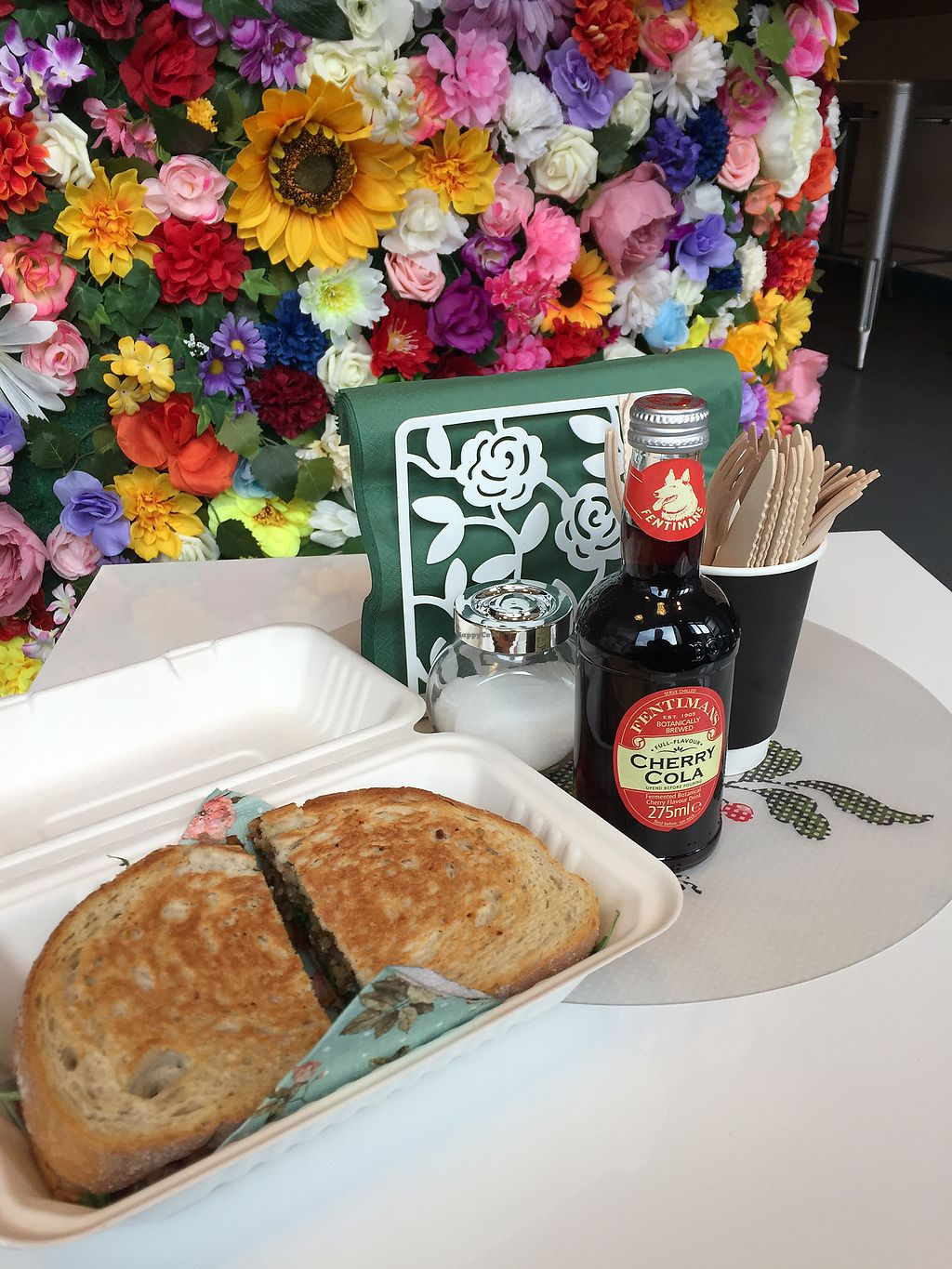 """Photo of In Bloom  by <a href=""""/members/profile/blackoutrishi"""">blackoutrishi</a> <br/>Vegan haggis and cheese sandwich  <br/> November 23, 2017  - <a href='/contact/abuse/image/96713/328492'>Report</a>"""