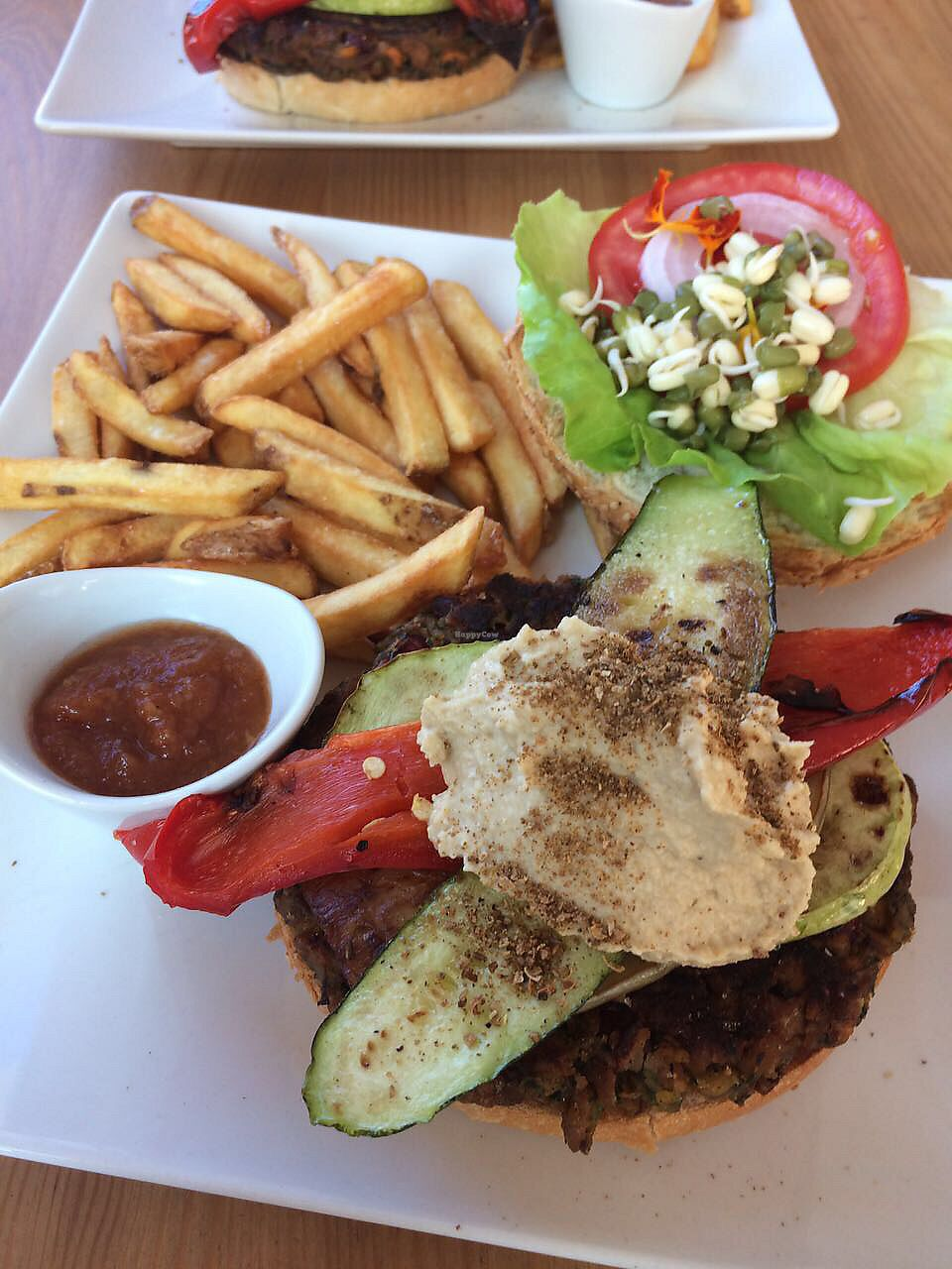 """Photo of Cafe Diem  by <a href=""""/members/profile/veganjazztraveller"""">veganjazztraveller</a> <br/>vegan burger with fries... everything homemade and veeeery yummy <br/> July 23, 2017  - <a href='/contact/abuse/image/96717/283624'>Report</a>"""
