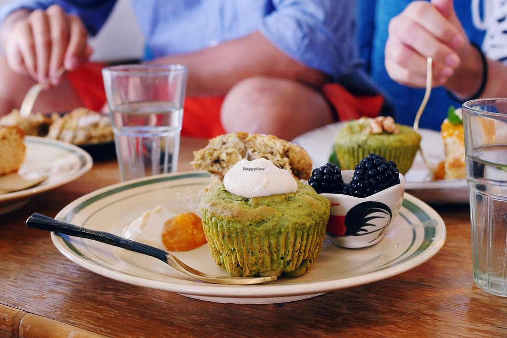 """Photo of Ruwam  by <a href=""""/members/profile/YukiLim"""">YukiLim</a> <br/>Close-up of matcha muffin and banana scone (vegan) <br/> August 7, 2017  - <a href='/contact/abuse/image/96731/290137'>Report</a>"""
