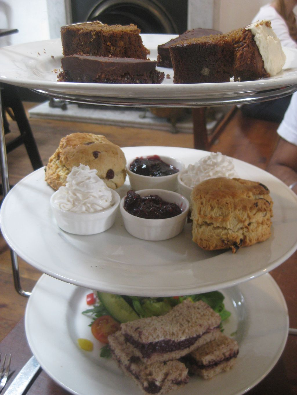 """Photo of Gillam's Tea Room  by <a href=""""/members/profile/jennyc32"""">jennyc32</a> <br/>Vegan afternoon tea <br/> August 5, 2015  - <a href='/contact/abuse/image/9676/112417'>Report</a>"""
