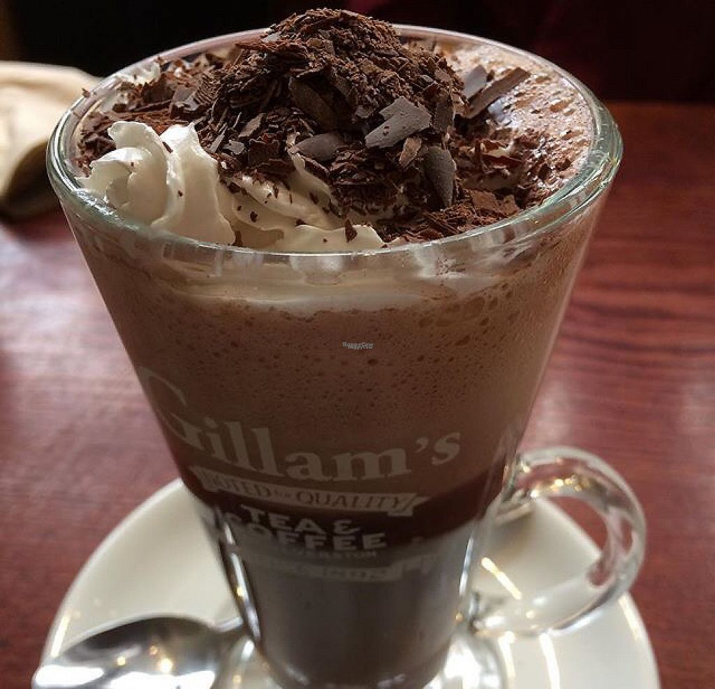 """Photo of Gillam's Tea Room  by <a href=""""/members/profile/SL17"""">SL17</a> <br/>Vegan hot choc! <br/> March 25, 2017  - <a href='/contact/abuse/image/9676/240446'>Report</a>"""