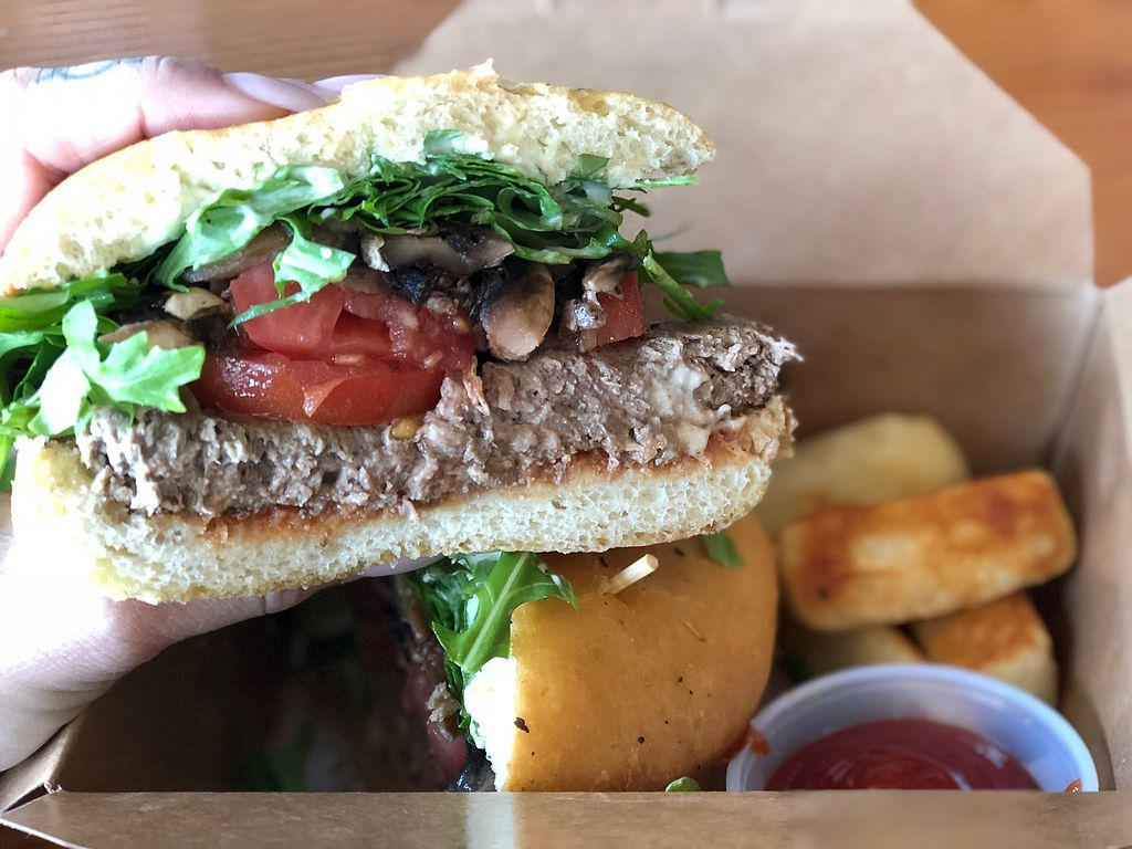 """Photo of The MadHouse Coffee  by <a href=""""/members/profile/BrinAmberleeDillon"""">BrinAmberleeDillon</a> <br/>Impossible burger <br/> January 9, 2018  - <a href='/contact/abuse/image/96782/344846'>Report</a>"""