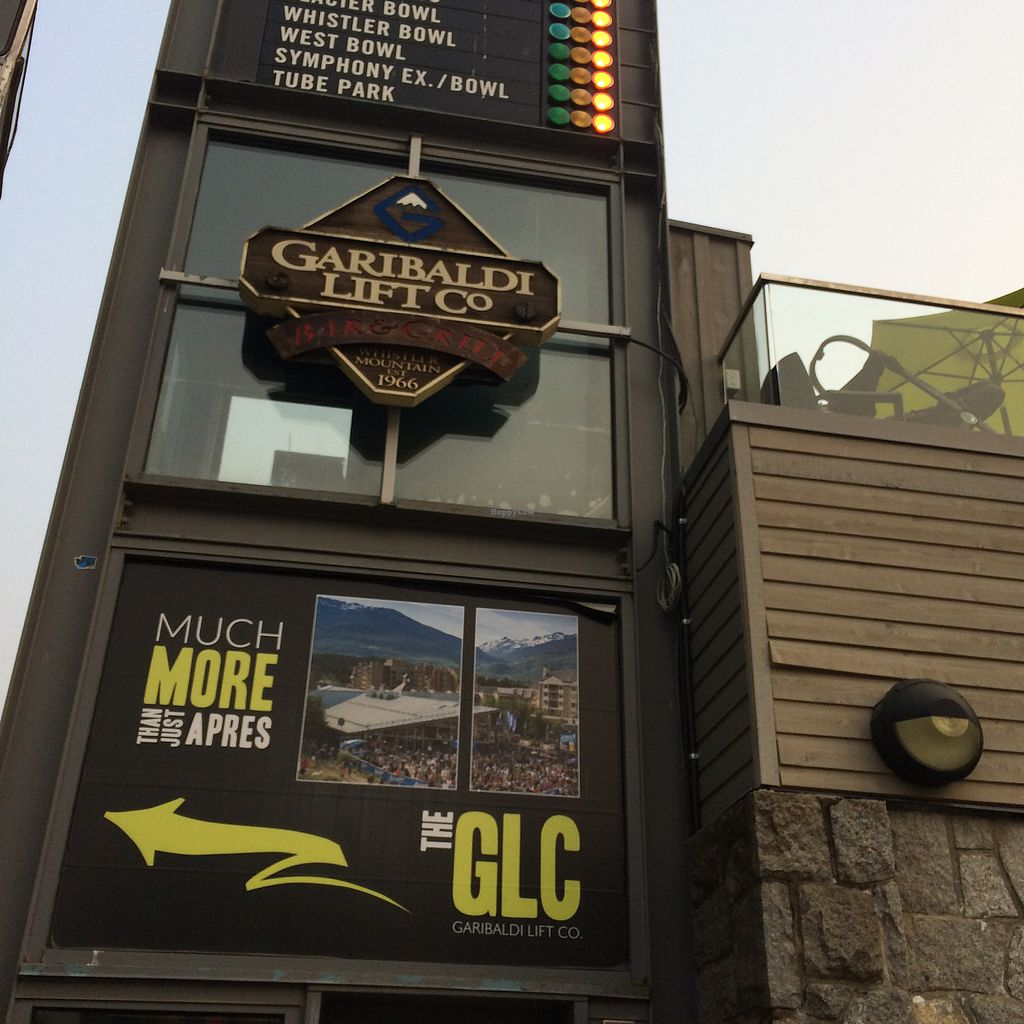 """Photo of Garibaldi Lift Co Bar & Grill  by <a href=""""/members/profile/VeggieFromSpace"""">VeggieFromSpace</a> <br/>sign next to staircase to Restauraunt <br/> August 8, 2017  - <a href='/contact/abuse/image/96793/290302'>Report</a>"""