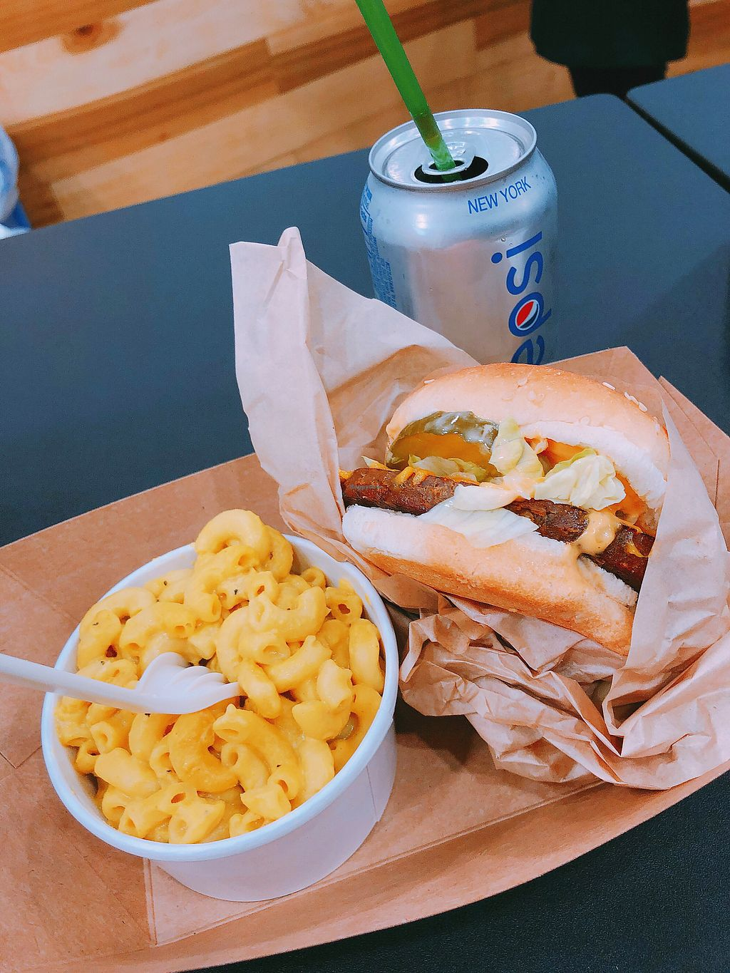 """Photo of Marty's V Burger  by <a href=""""/members/profile/janitajasmin"""">janitajasmin</a> <br/>World famous burger with mac n cheese <br/> March 13, 2018  - <a href='/contact/abuse/image/96798/370130'>Report</a>"""