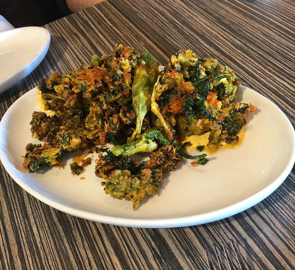 """Photo of Vegetable Butcher  by <a href=""""/members/profile/Bariann"""">Bariann</a> <br/>Spring Vegetable Shishito Frito <br/> November 23, 2017  - <a href='/contact/abuse/image/96800/328220'>Report</a>"""