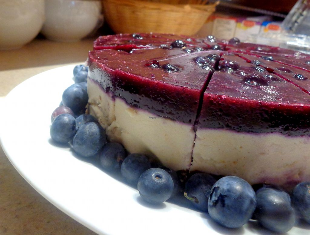 """Photo of Milda's Pizzas & More  by <a href=""""/members/profile/milda7mg"""">milda7mg</a> <br/>vegan blueberry cheesecake <br/> July 28, 2017  - <a href='/contact/abuse/image/96804/285994'>Report</a>"""