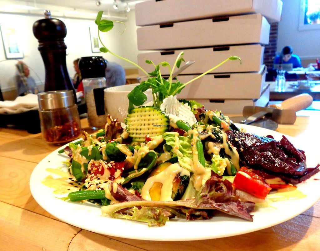 """Photo of Milda's Pizzas & More  by <a href=""""/members/profile/milda7mg"""">milda7mg</a> <br/>grilled salad (vegan) <br/> July 29, 2017  - <a href='/contact/abuse/image/96804/285996'>Report</a>"""