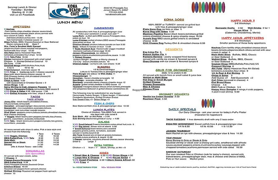 """Photo of Kona Beach Cafe  by <a href=""""/members/profile/renee.duquette"""">renee.duquette</a> <br/>menu <br/> July 23, 2017  - <a href='/contact/abuse/image/96827/283728'>Report</a>"""