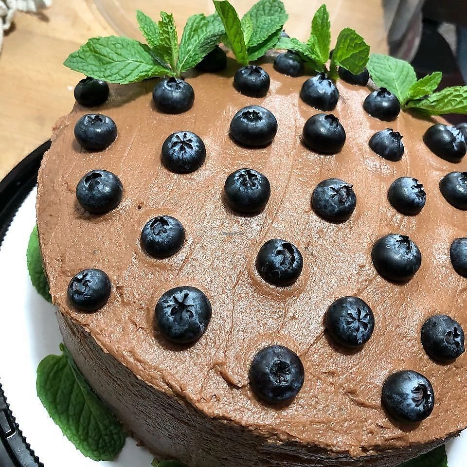 """Photo of La Masa Panaderia  by <a href=""""/members/profile/YanethGris"""">YanethGris</a> <br/>Vegan blueberry chocolate cake! <br/> January 25, 2018  - <a href='/contact/abuse/image/96861/350720'>Report</a>"""