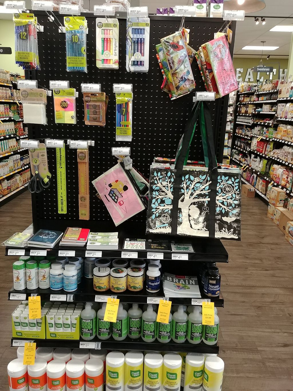 """Photo of Choices Natural Market  by <a href=""""/members/profile/PlantSim"""">PlantSim</a> <br/>They've got some cool stuff from Blue Q, as well as a sustainable school\office supplies <br/> August 22, 2017  - <a href='/contact/abuse/image/9689/296005'>Report</a>"""