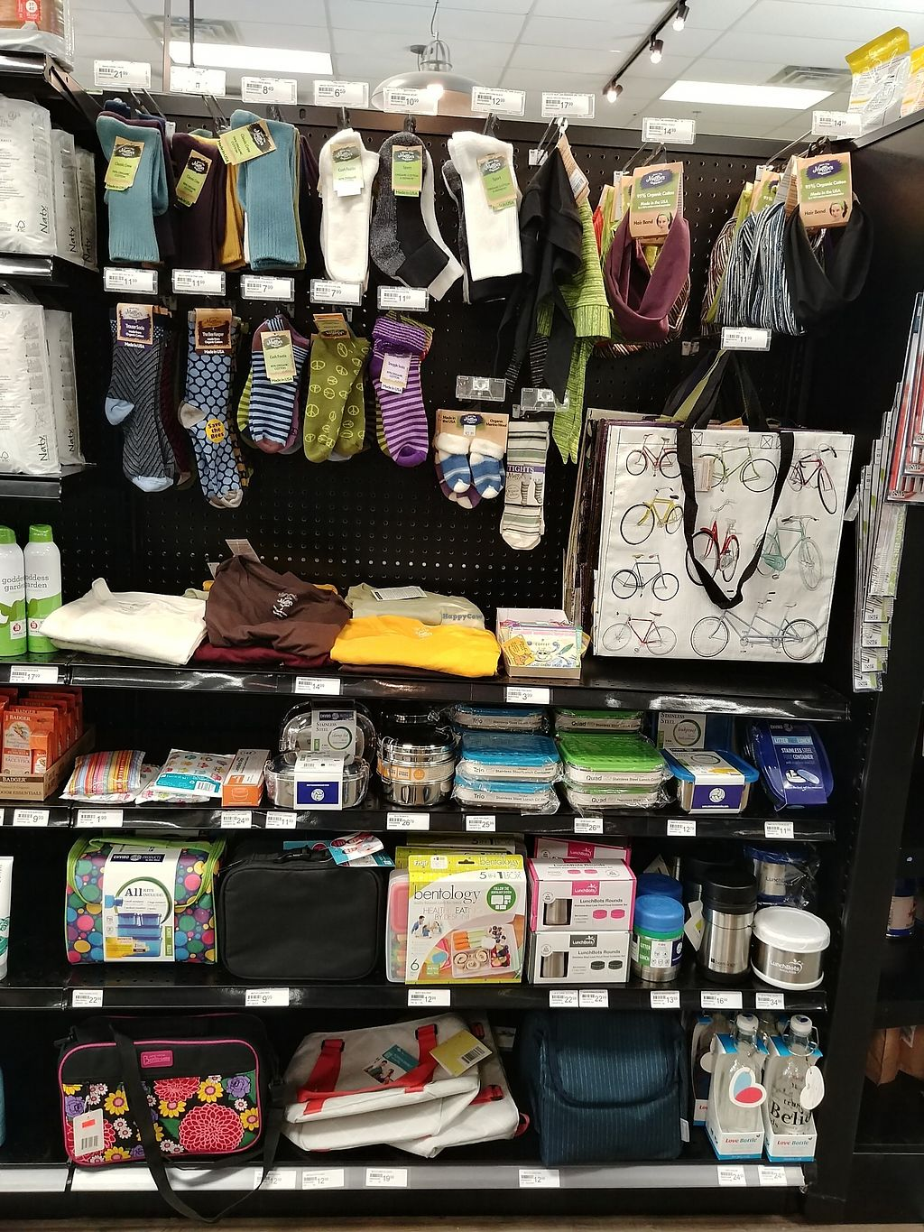 """Photo of Choices Natural Market  by <a href=""""/members/profile/PlantSim"""">PlantSim</a> <br/>They stock sustainable and/plastic-free lunch containers, Blue Q shopping totes, Maggie's Organic clothing, and glass drinking bottles <br/> August 22, 2017  - <a href='/contact/abuse/image/9689/296006'>Report</a>"""