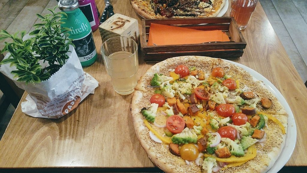 """Photo of Pash & Jimmy  by <a href=""""/members/profile/danila994"""">danila994</a> <br/>one of the tasty vegan pizzas <br/> April 1, 2018  - <a href='/contact/abuse/image/96905/379490'>Report</a>"""