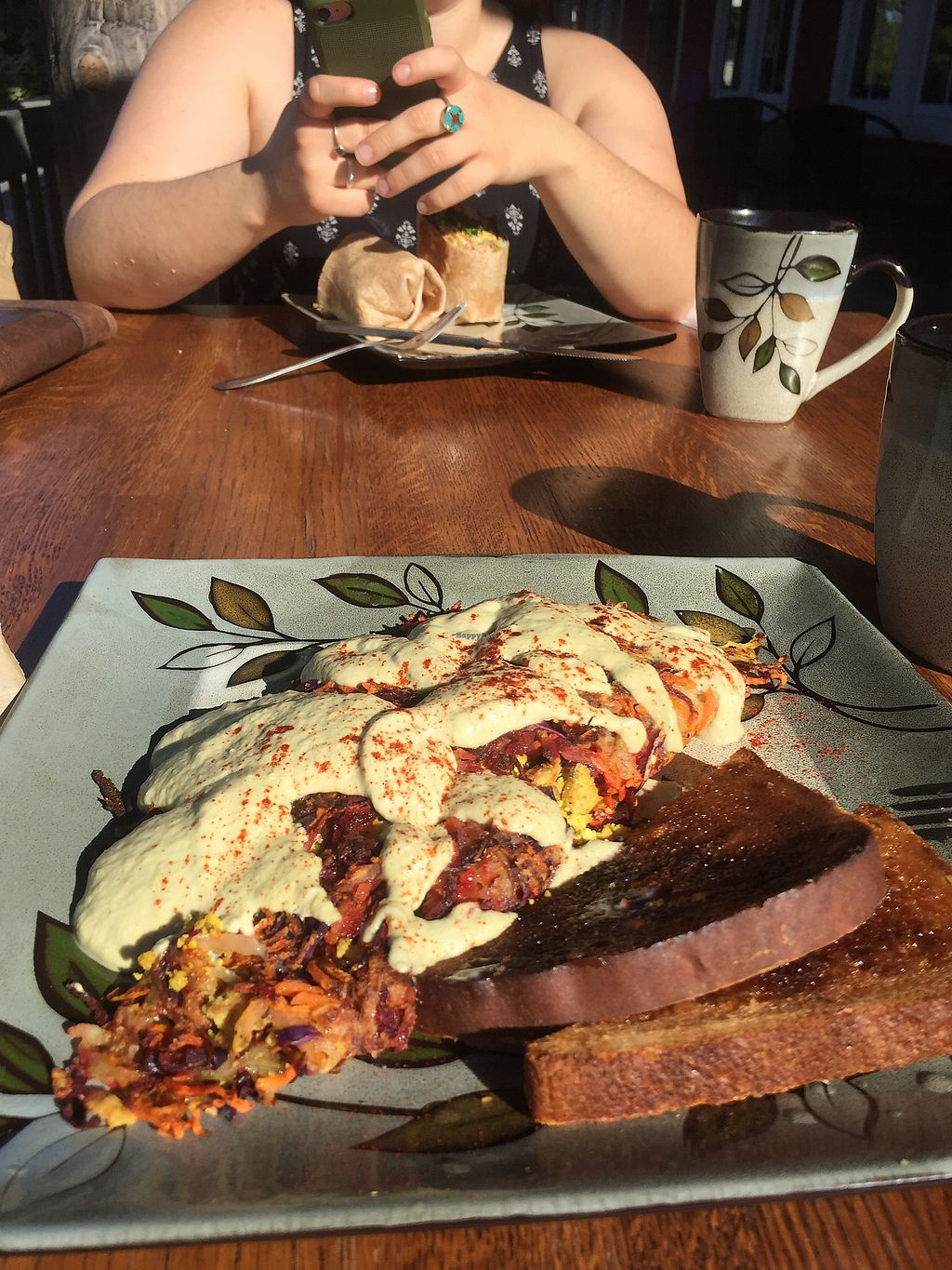 """Photo of Sweet Alchemy Bakery and Cafe  by <a href=""""/members/profile/WolfPatrick"""">WolfPatrick</a> <br/>Rainbow Roots Omelette <br/> August 1, 2017  - <a href='/contact/abuse/image/96919/287827'>Report</a>"""