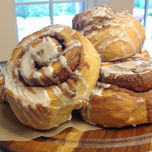 """Photo of Sweet Alchemy Bakery and Cafe  by <a href=""""/members/profile/BhavatariniCarr"""">BhavatariniCarr</a> <br/>Maple glazed pumpkin rolls  <br/> September 28, 2017  - <a href='/contact/abuse/image/96919/309240'>Report</a>"""