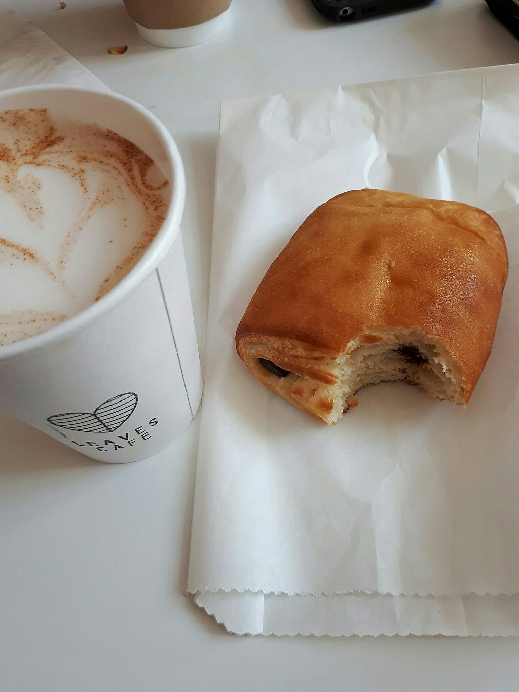 "Photo of Leaves Cafe  by <a href=""/members/profile/sandrachabot"">sandrachabot</a> <br/>chai latte & chocolate croissant <br/> August 12, 2017  - <a href='/contact/abuse/image/96956/292058'>Report</a>"