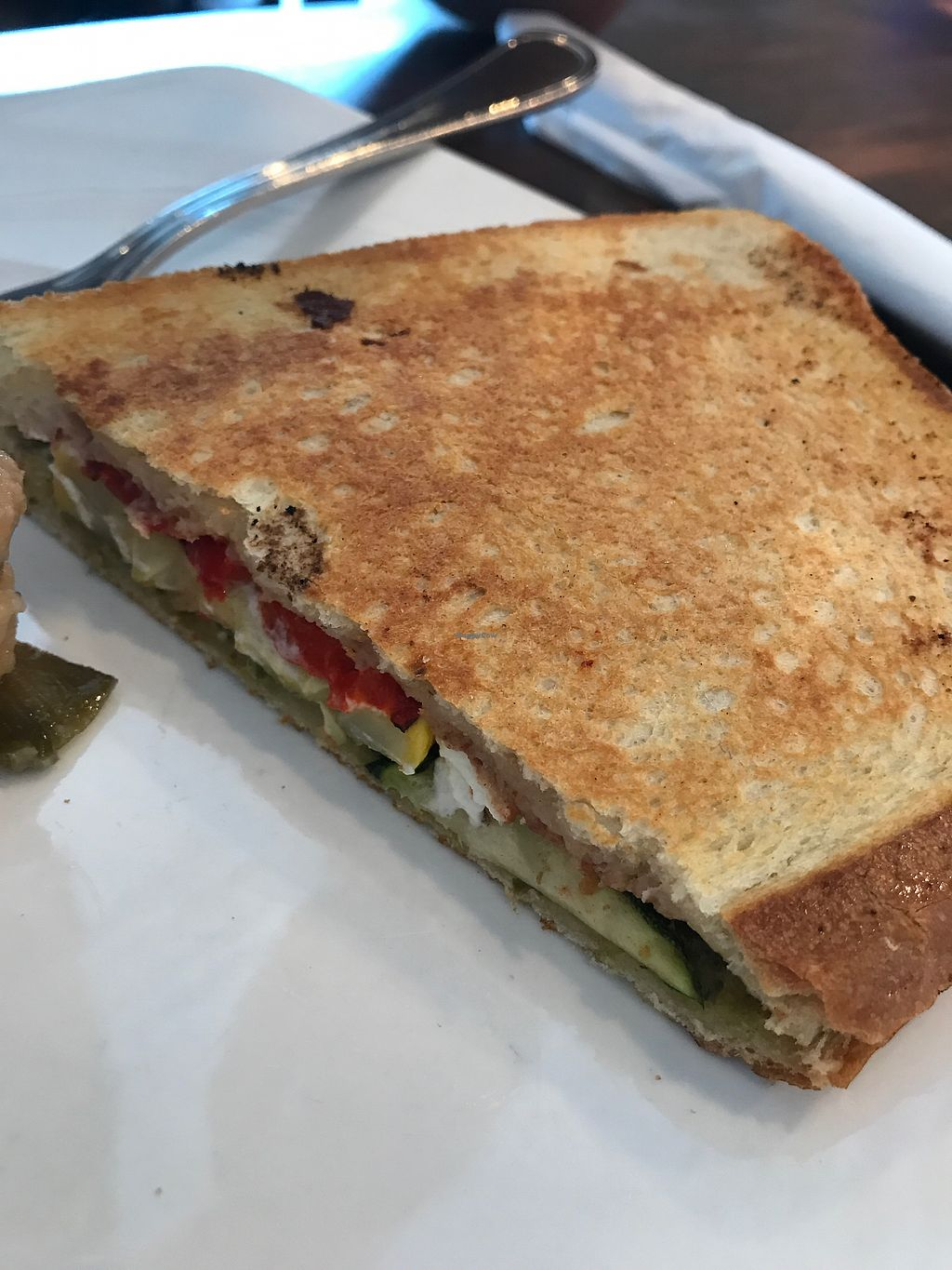 "Photo of The Beanery Cafe and Bakery  by <a href=""/members/profile/MyGreenTongue"">MyGreenTongue</a> <br/>roasted veg toastie  <br/> September 5, 2017  - <a href='/contact/abuse/image/96991/301221'>Report</a>"