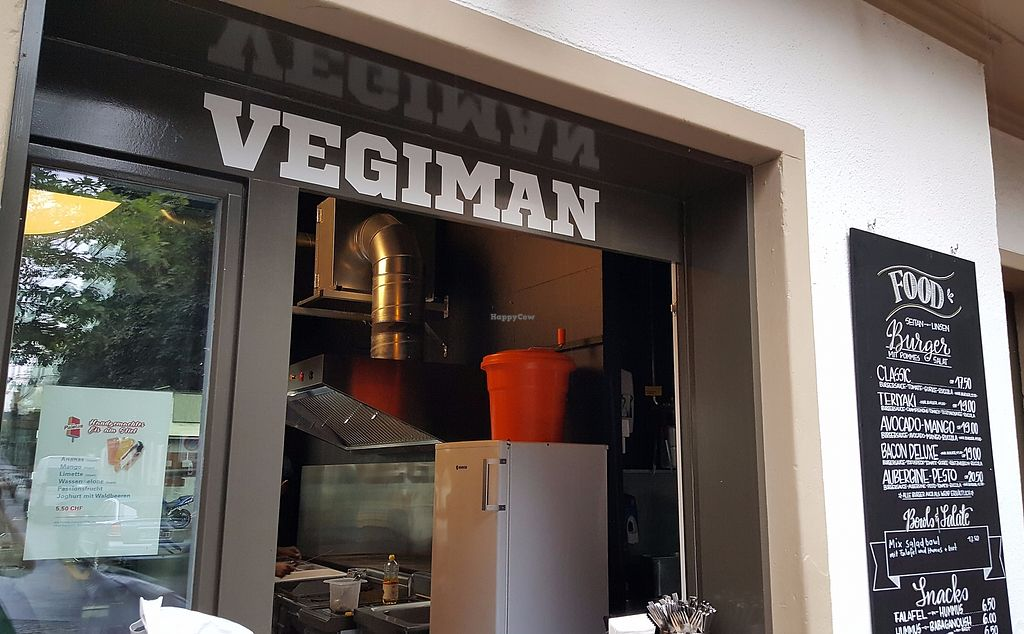 """Photo of Vegiman - Feldberg Kiosk  by <a href=""""/members/profile/manuelha"""">manuelha</a> <br/>Stall with burger menu <br/> August 9, 2017  - <a href='/contact/abuse/image/97072/290686'>Report</a>"""