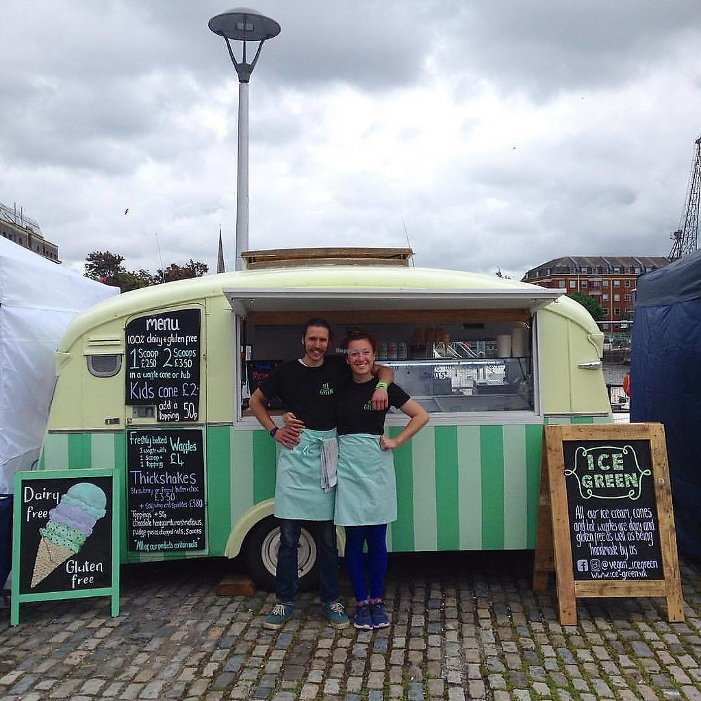 """Photo of Ice Green  by <a href=""""/members/profile/amziz"""">amziz</a> <br/>Vintage 1959 Cheltenham Sable revamped into a beautiful vegan ice cream wagon <br/> July 27, 2017  - <a href='/contact/abuse/image/97075/285424'>Report</a>"""