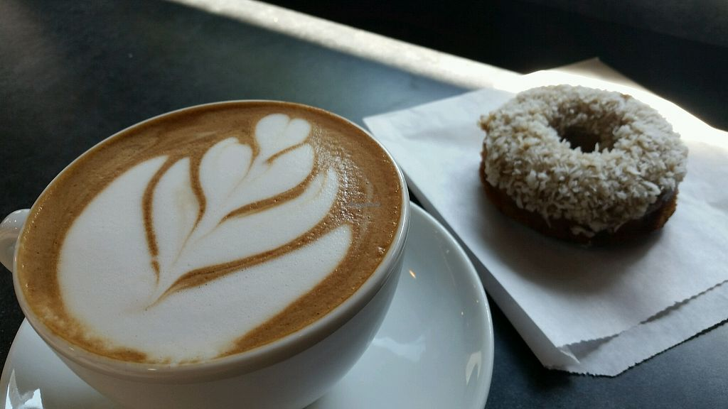 """Photo of Oblivion Comics and Coffee  by <a href=""""/members/profile/True%20North"""">True North</a> <br/>Morning glory vegan donut <br/> August 24, 2017  - <a href='/contact/abuse/image/97111/296713'>Report</a>"""