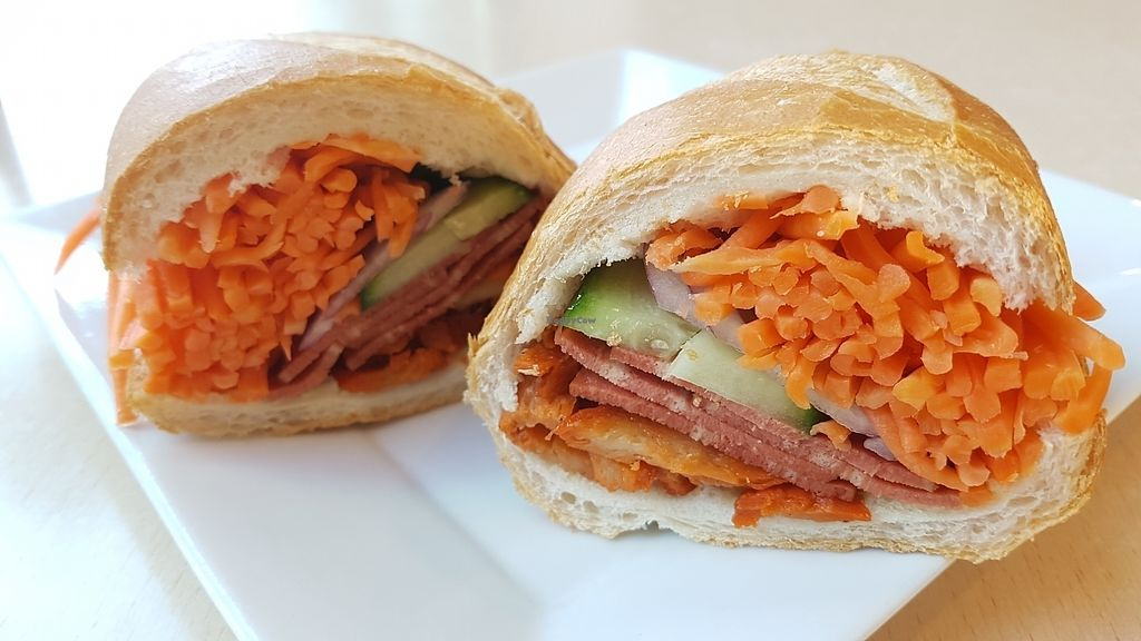 """Photo of CAFFIEND  by <a href=""""/members/profile/PurpleGoat"""">PurpleGoat</a> <br/>Vegan bacon banh mi! Yum!  <br/> August 1, 2017  - <a href='/contact/abuse/image/97152/287418'>Report</a>"""