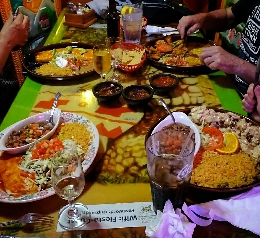 "Photo of Fiesta Mexicana Family Restaurant  by <a href=""/members/profile/zinab"">zinab</a> <br/>vegan combo on the left bottom <br/> July 31, 2017  - <a href='/contact/abuse/image/97158/287319'>Report</a>"