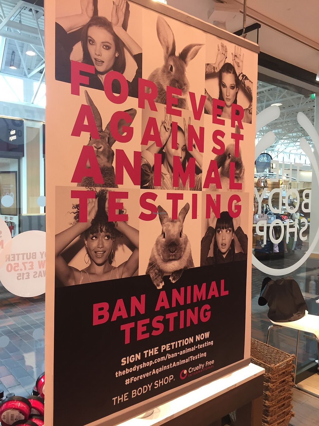 """Photo of The Body Shop  by <a href=""""/members/profile/TARAMCDONALD"""">TARAMCDONALD</a> <br/>current against Animal testing nationwide campaign <br/> October 24, 2017  - <a href='/contact/abuse/image/97175/318484'>Report</a>"""
