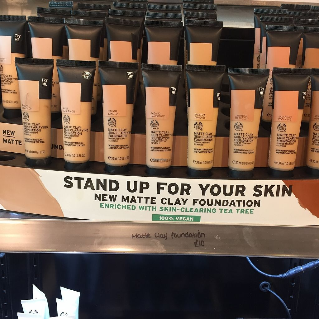 "Photo of The Body Shop  by <a href=""/members/profile/TARAMCDONALD"">TARAMCDONALD</a> <br/>Vegan makeup <br/> October 24, 2017  - <a href='/contact/abuse/image/97175/318487'>Report</a>"