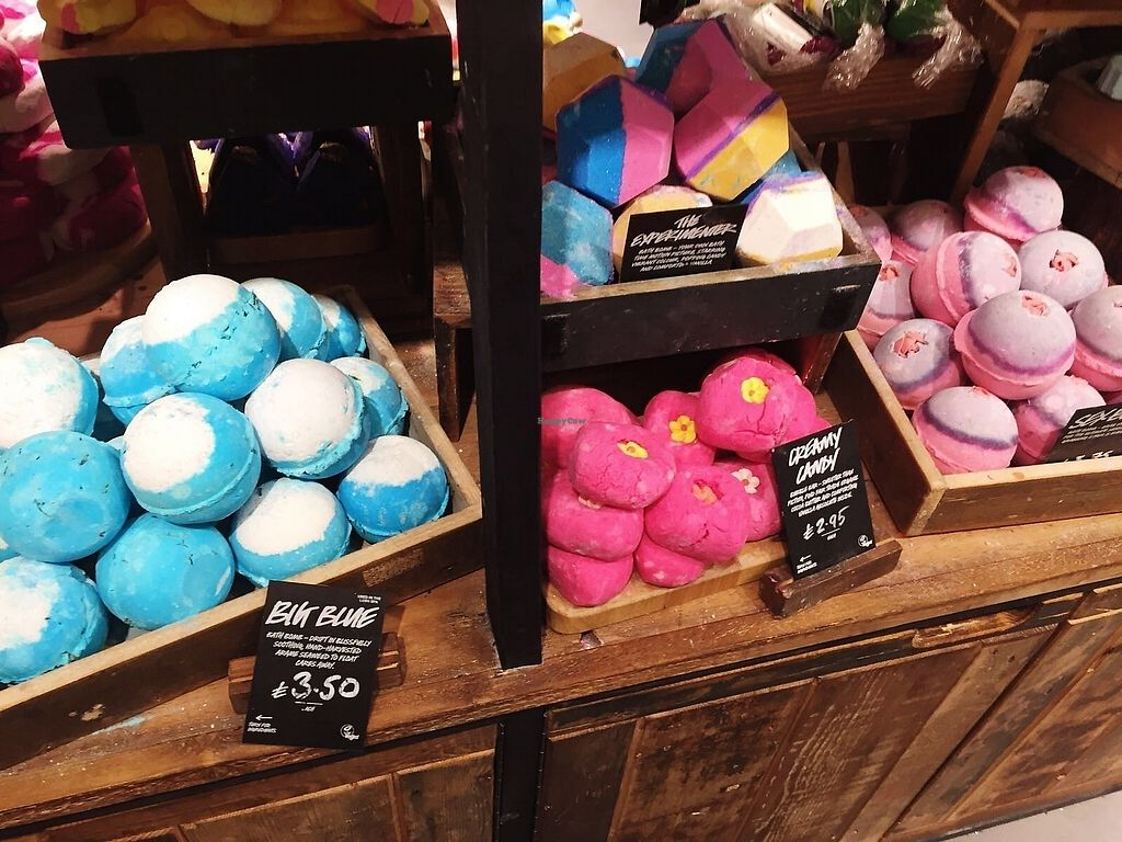 """Photo of Lush  by <a href=""""/members/profile/TARAMCDONALD"""">TARAMCDONALD</a> <br/>Inside store, lots of vegan goodies! <br/> October 3, 2017  - <a href='/contact/abuse/image/97182/311463'>Report</a>"""