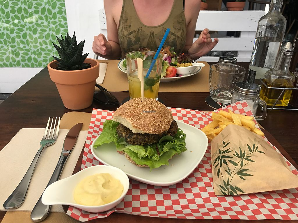 "Photo of Bistro Arbol  by <a href=""/members/profile/artczo"">artczo</a> <br/>Black Bean Burger <br/> October 10, 2017  - <a href='/contact/abuse/image/97212/313853'>Report</a>"