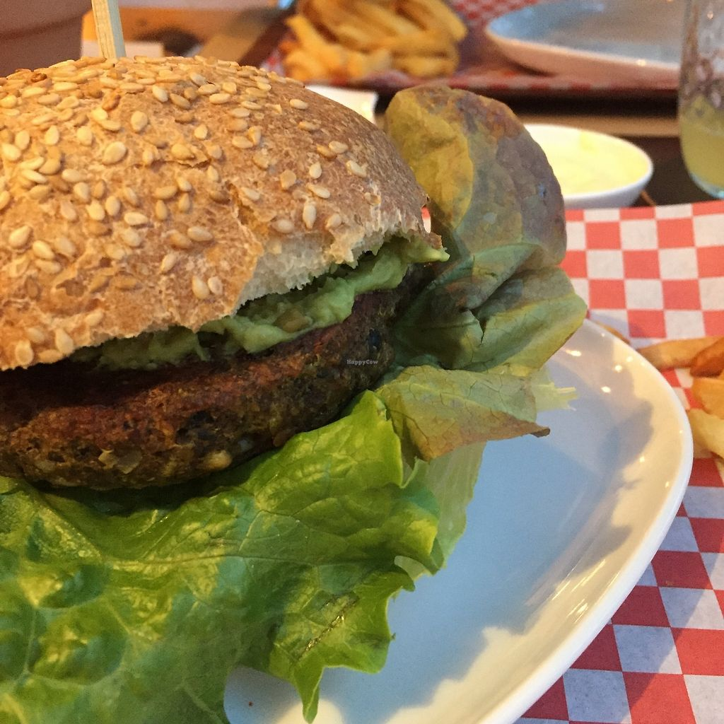 "Photo of Bistro Arbol  by <a href=""/members/profile/NatalieFisher"">NatalieFisher</a> <br/>Guacamole on the vegan burger  <br/> November 27, 2017  - <a href='/contact/abuse/image/97212/329614'>Report</a>"