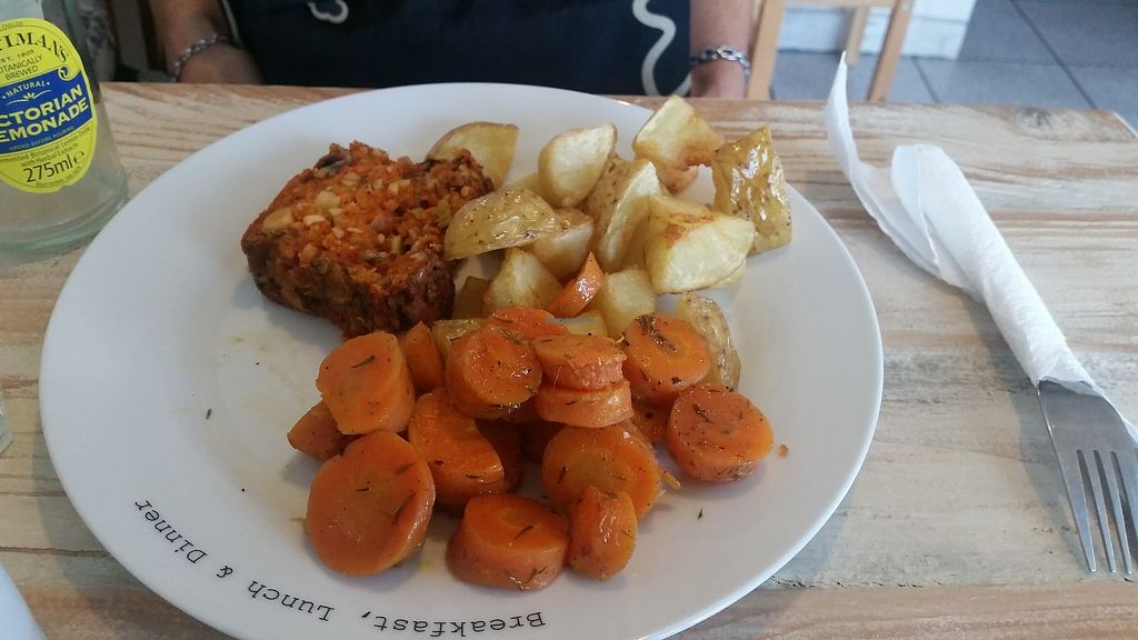 """Photo of Anniden's  by <a href=""""/members/profile/Bunnyfairytale%E2%99%A1"""">Bunnyfairytale♡</a> <br/>Nut roast, caramelised carrots and potatoes <br/> August 13, 2017  - <a href='/contact/abuse/image/97214/292381'>Report</a>"""