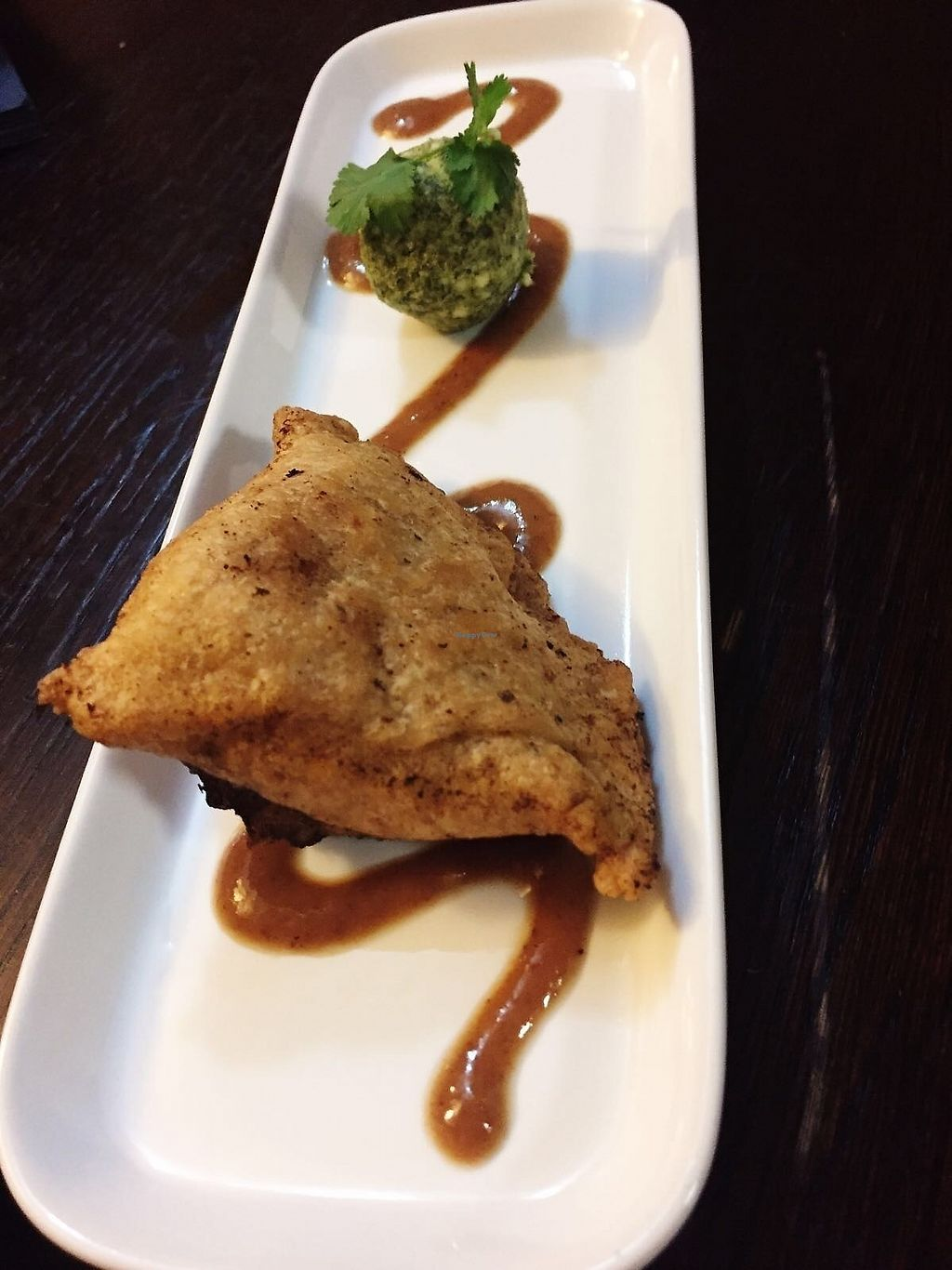 "Photo of Drakes Pub  by <a href=""/members/profile/TARAMCDONALD"">TARAMCDONALD</a> <br/>Vegan chickpea samosa! Incredible! <br/> October 16, 2017  - <a href='/contact/abuse/image/97228/315878'>Report</a>"