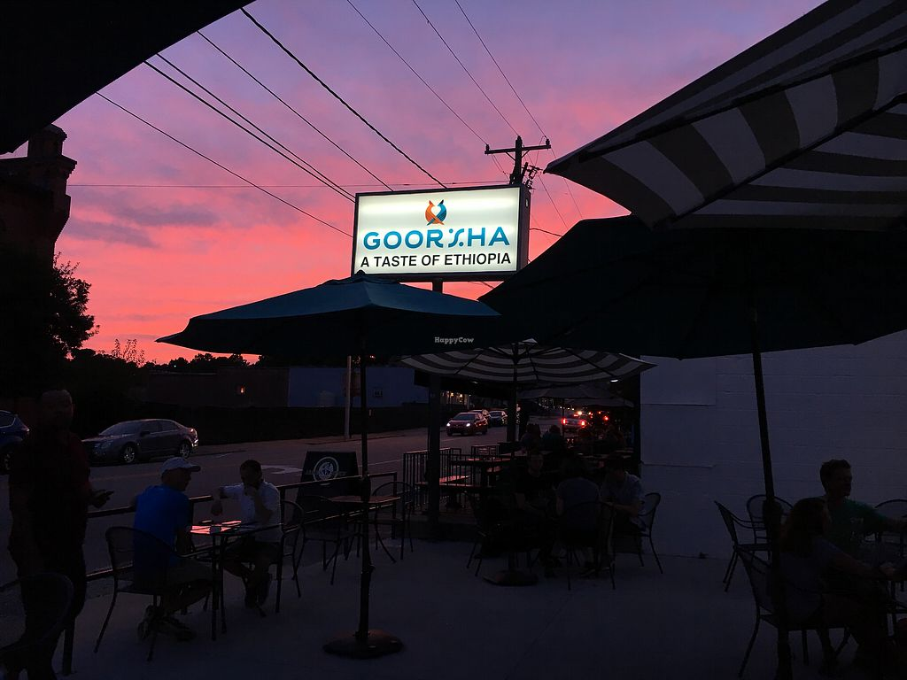 """Photo of Goorsha  by <a href=""""/members/profile/turtleveg"""">turtleveg</a> <br/>sunset view from outdoor seating  <br/> August 4, 2017  - <a href='/contact/abuse/image/97231/288465'>Report</a>"""