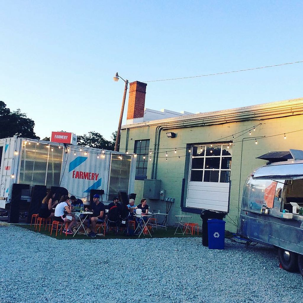 """Photo of The Farmery - Food Trailer  by <a href=""""/members/profile/turtleveg"""">turtleveg</a> <br/>Farmery on Geer Street, Durham <br/> July 27, 2017  - <a href='/contact/abuse/image/97233/285362'>Report</a>"""