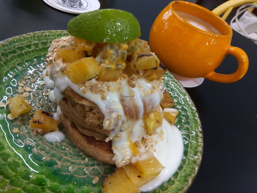 "Photo of The Herbivore Kitchen  by <a href=""/members/profile/TrixieFirecracker"">TrixieFirecracker</a> <br/>Cranachan pancakes <br/> August 24, 2017  - <a href='/contact/abuse/image/97309/296729'>Report</a>"
