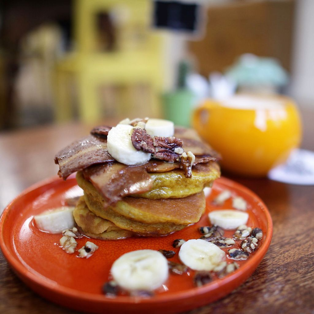 "Photo of The Herbivore Kitchen  by <a href=""/members/profile/thecharlotte"">thecharlotte</a> <br/>Pumpkin, maple and pecan pancakes  <br/> November 18, 2017  - <a href='/contact/abuse/image/97309/326732'>Report</a>"