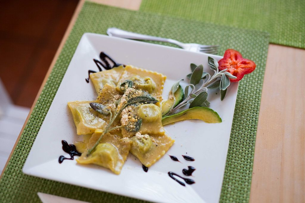 """Photo of Past & Future  by <a href=""""/members/profile/Hootinthehouse"""">Hootinthehouse</a> <br/>Mushroom Ravioli - fresh pasta made in house <br/> February 2, 2018  - <a href='/contact/abuse/image/97310/354045'>Report</a>"""