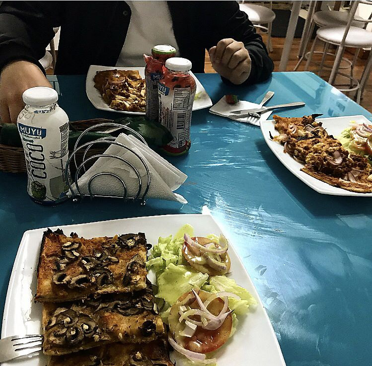 "Photo of Ahimsa Vegan Food  by <a href=""/members/profile/whatupleo"">whatupleo</a> <br/>Mushroom pizza <br/> February 2, 2018  - <a href='/contact/abuse/image/97324/354100'>Report</a>"